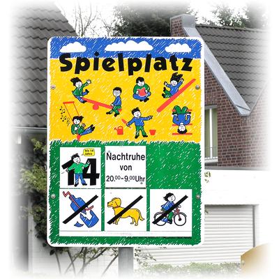 Spielplatzschild für Tapper&Hollmann, Willich