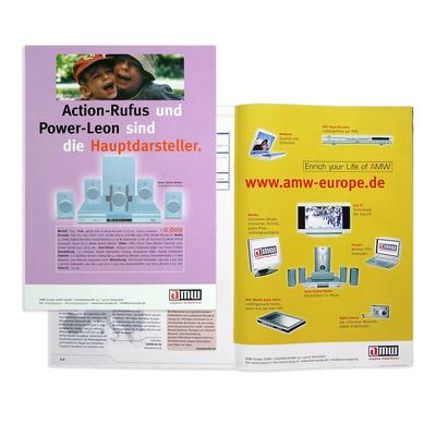 Produkt- und Imageanzeigen, Unterhaltungselektronik, AMW Europe, Düsseldorf