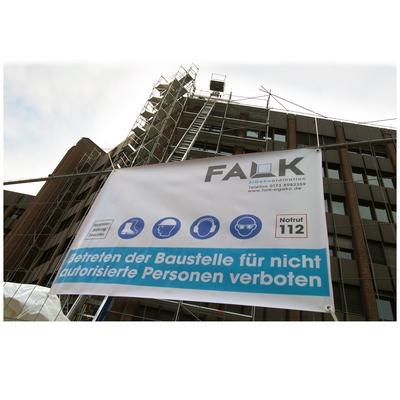 Bauschild für FALK SiGeKo, Krefeld