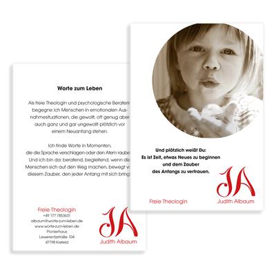 Flyer für Judith Albaum - Freie Theologin, Köln