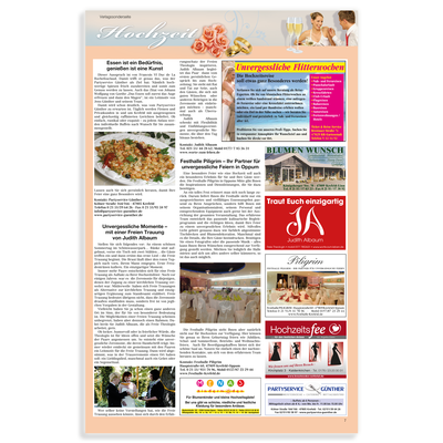 Anzeige Fachmagazin für Judith Albaum - Freie Hochzeitsrednerin, Köln