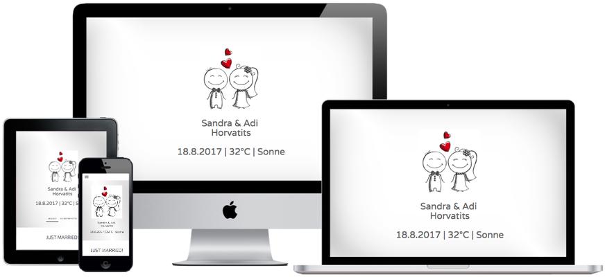 Hochzeitswebsite
