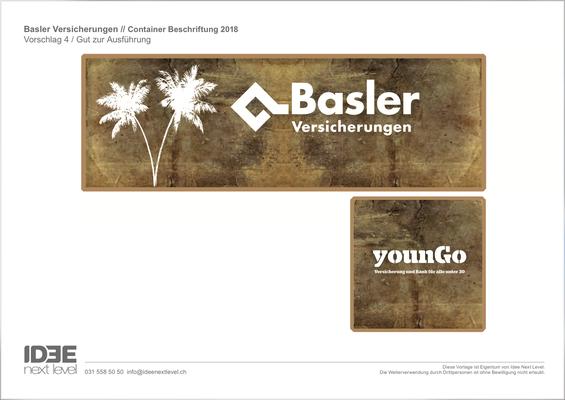 Basler versicherungen Thun, Idee kreativ, Grafik, Werbetechnik, Wandgestaltung, Kreativ, Bern, Zürich, Schweiz