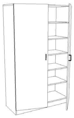 Armoire à portes