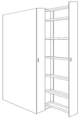 Armoire à tiroirs verticaux
