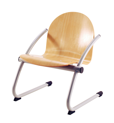 Arcos fauteuil traîneau bois