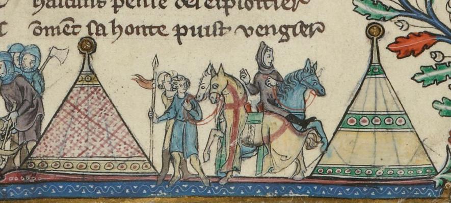 Anseïs de Carthage - BNF Fr 793 - f.156 -France - 1280-1300