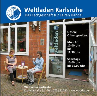 Anzeige – Weltladen Karlsruhe