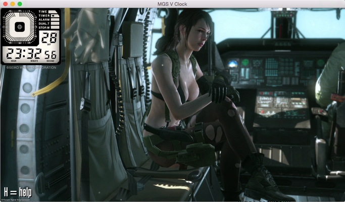 MGS V Coundown Timer Quiet