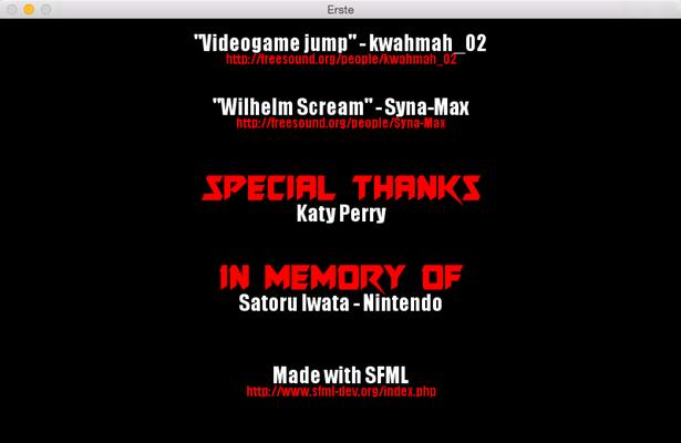 Erste credits screen