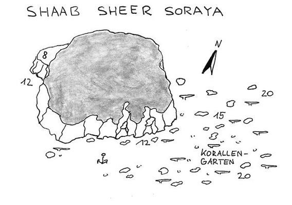 Riff in Wracknähe, Wrack, Salem Express, Safaga, Schiffsunglück