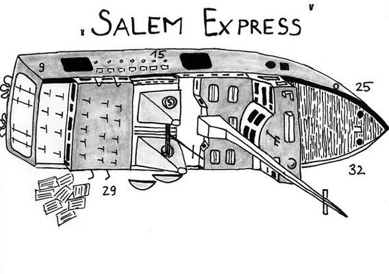 Salem Express, Wrack, Safaga, Tragödie
