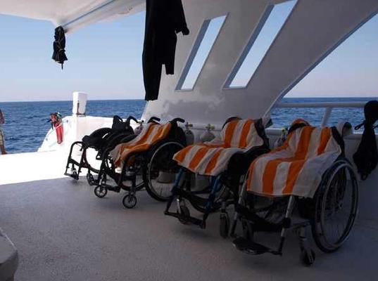 Rollstuhlfahrer und Tauchen , Behinderung und Tauchen