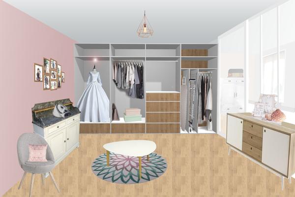premières propositions-aménagement chambre d'amis / lingerie