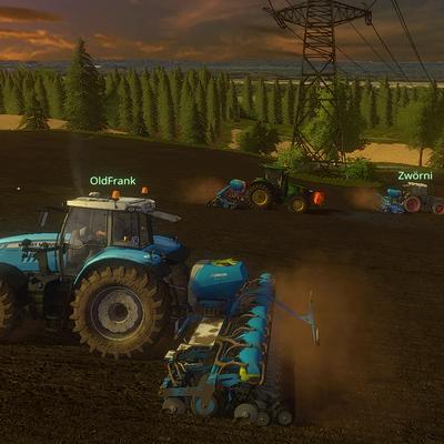 Mit drei Sähmaschinen sind auch die gößeren Felder auf der Karte gut machbar.