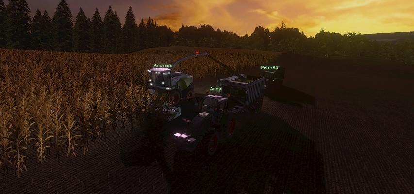 Dank sorgfältigen Düngens war der Ertrag höher als zunächst erwartet, so sind die Silagewagen schnell gefüllt.