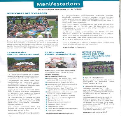 Journal de la communauté de communes EVRECY ORNE ODON 12.2015