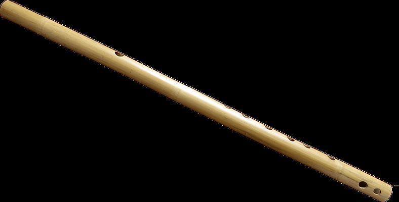 Flûte traversière en bambou.