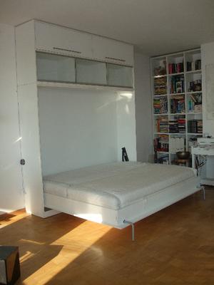 Klappt doch. Trumm in weiß zum Schlafen im Wohnzimmer