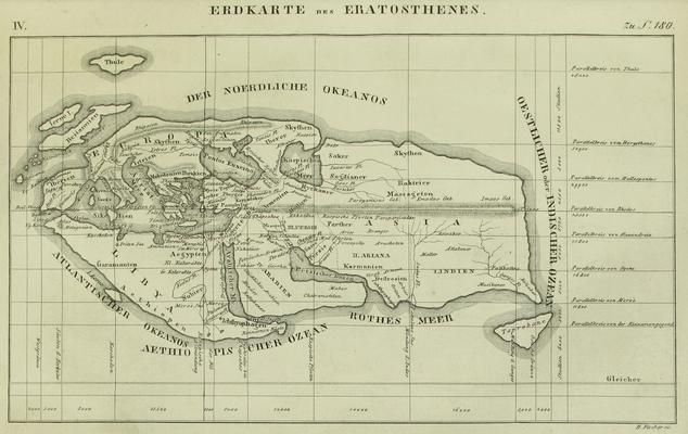 Erdkarte Eratosthenes
