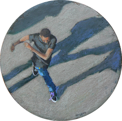 Mehrzad Najand - Acrylique sur toile -  ø: 20cm -