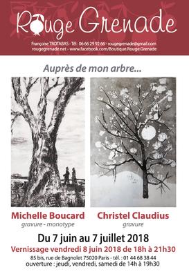 Exposition Michel Boucard et Christelle Claudius - gravures