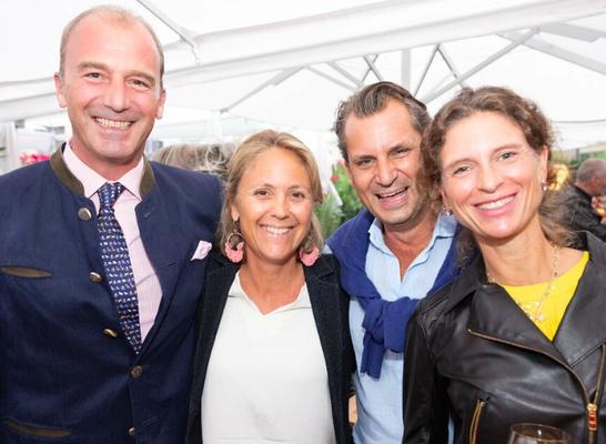 v.l. Max von Moy, Barbara Unterkofler (Bgmst. Stv.), Peter Jacoby (IV-Präsident SBG) und Jennie von Moy