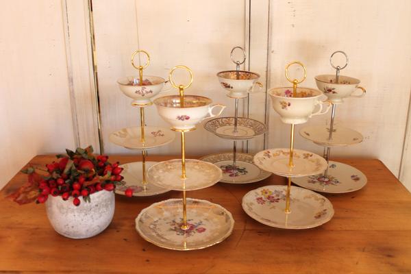 Etageren, Etagere, Vintage Geschirr, Altes Geschirr, Geschenk für Mutti, Geschenk für Mama,