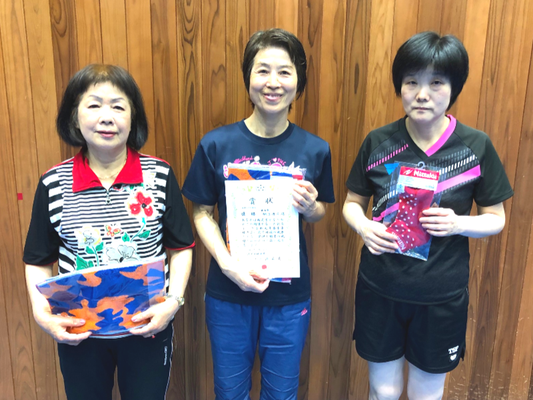 女子シニアの部A 本荘選手 鈴木選手 福島選手