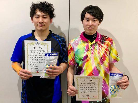 男子複3位:山越選手・小川選手(オーシャンクラブC)