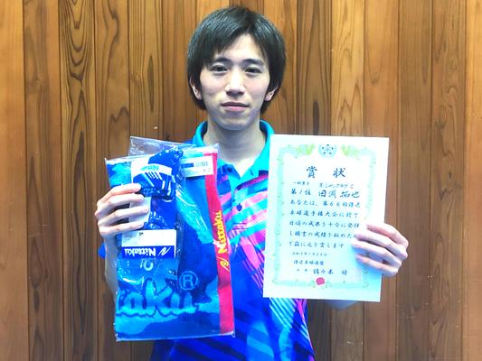 男子単・優勝:田淵選手(オーシャンC)