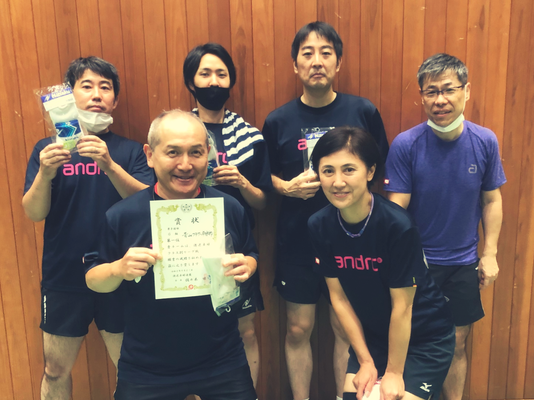 Gクラス優勝:青山フラワー卓球部