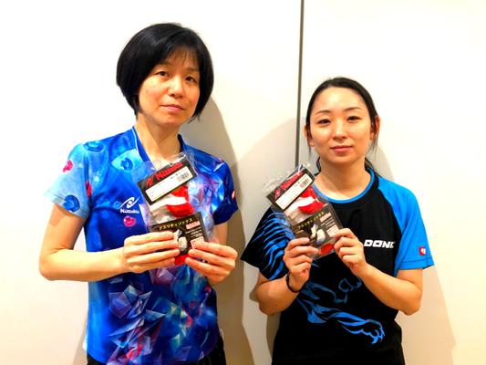 女子40歳以上 優勝:石山選手 準優勝:長谷川選手