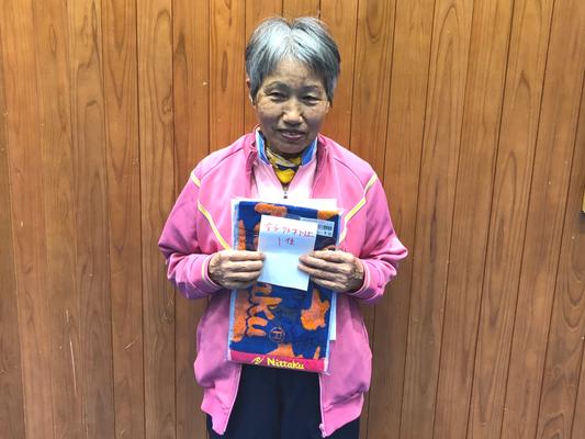 女子70歳以上・優勝:伊東選手