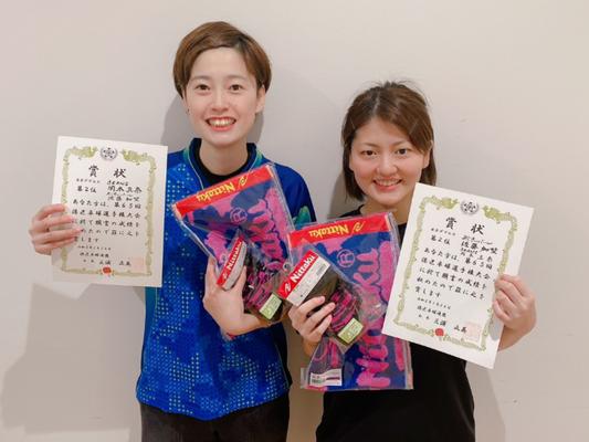 女子複準優勝:岡本(真)選手