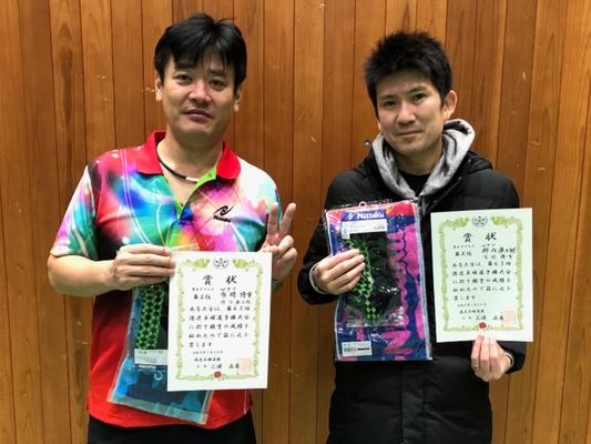 男子複準優勝:有間選手・柿内選手
