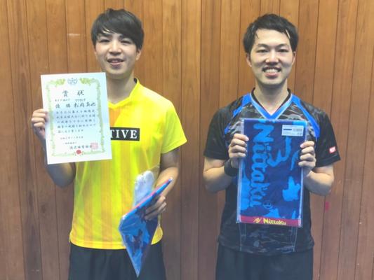男子39歳以下 優勝:松岡選手、準優勝:佐藤選手