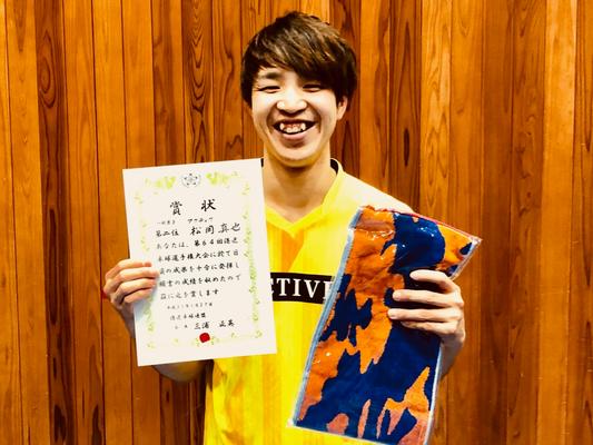 男子単準優勝:松岡選手(アクティブ)
