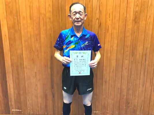 男子70歳以上・優勝:津島選手