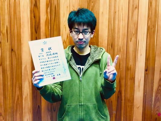 男子単優勝:河端選手(BEANS)