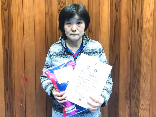 女子単・準優勝:福島選手(あじさいパール)