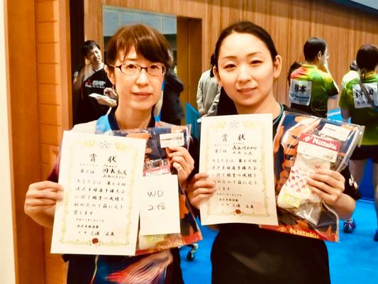 女子複準優勝:岡本(弘)選手・長谷川選手(BEANS)