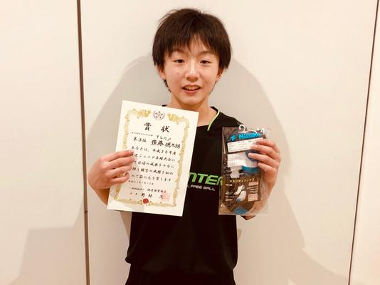 中学生以下男子(単)3位入賞:須藤選手(T.L.C.jr)