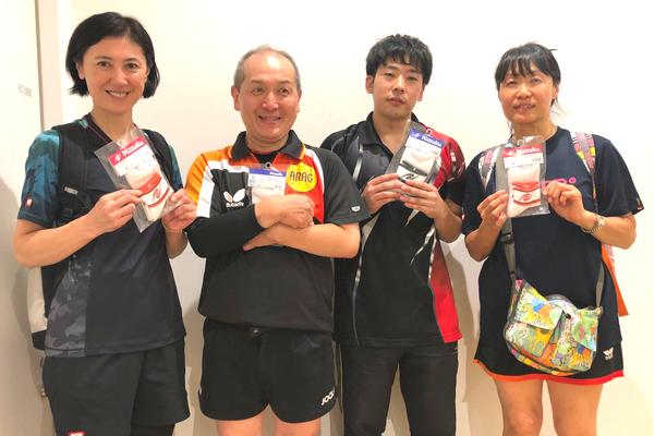 3位トーナメント準優勝:青山フラワー卓球部