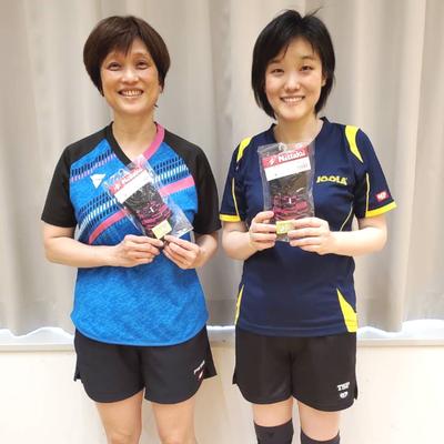 女子50歳以上 優勝:林選手、準優勝:福島選手