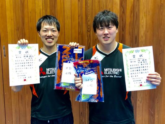 男子複準優勝:佐藤選手・向選手(MSNクラブ)
