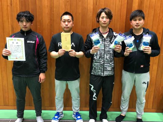 男子 決勝トーナメント 3位:Lili卓球スタジオ