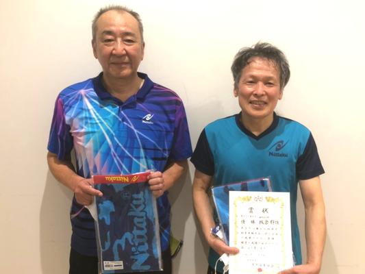 男子60歳以上 準優勝:小倉選手、優勝:板倉選手