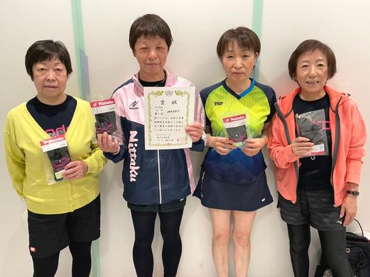 女子5部優勝:HAPPY