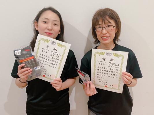 女子複3位:長谷川選手・岡本(弘)選手